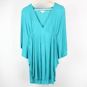 Elan Beach Womens Blouse Cover Up Size Medium Blue